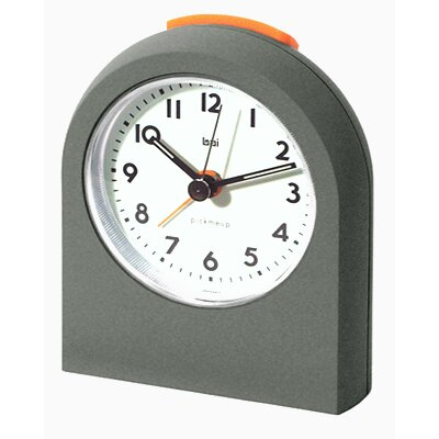 Bai Design Pick-Me-Up Alarm Clock in Futura Titanium