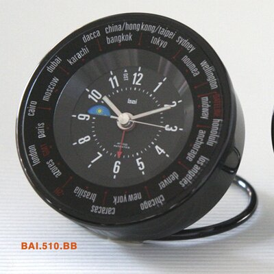 Bai Design Auto-Align World Trotter Travel Alarm Clock