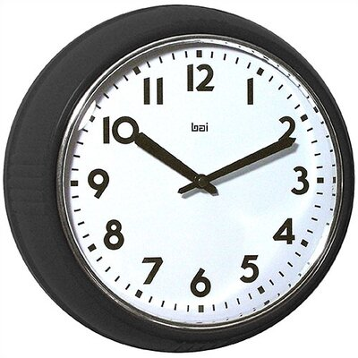 "Bai Design 8.3"" Too Cool for School Retro Modern Wall Clock"