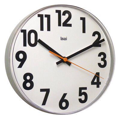 Bai Design Lucite Wall Clock Big No in White
