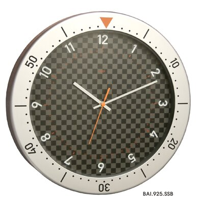 Bai Design Speedmaster Wall Clock in Silver and Black