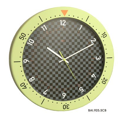 Bai Design Speedmaster Wall Clock in Chartreuse and Black