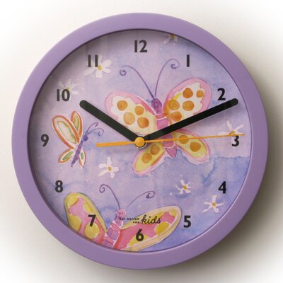 Bai Design Children Wall Clock with Butterflies