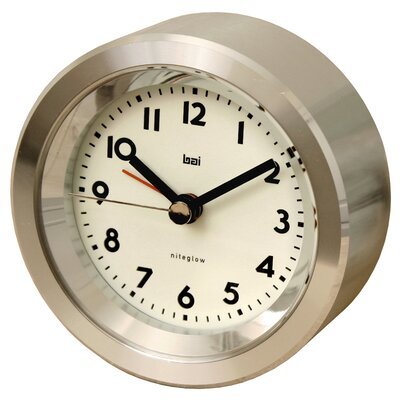 Bai Design Landmark Astor Aluminium Travel Alarm Clock
