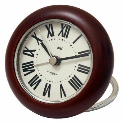 Roma Rondo Wooden Travel Alarm Clock