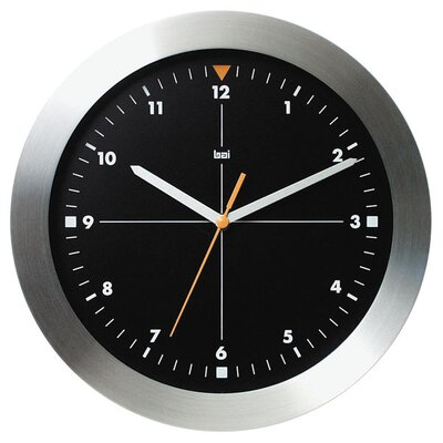Bai Design Brushed Aluminum Wall Clock Formula One in Black