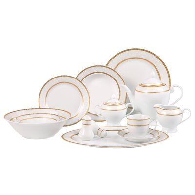 Lorren Home Trends Amelia 57 Piece Dinnerware Set