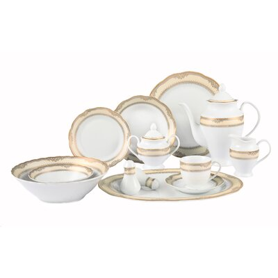 Isabella 57 Piece Dinnerware Set