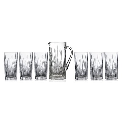 Lorren Home Trends RCR Fire 7 Piece Ice Tea/Beverage Glass Set