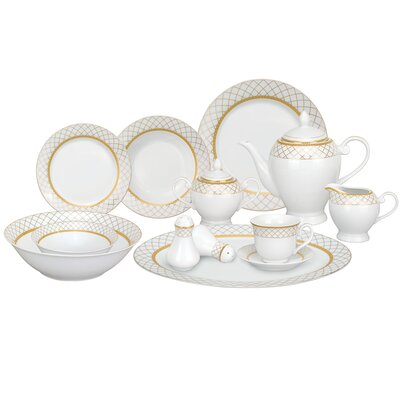Beatrice 57 Piece Porcelain Dinnerware Set
