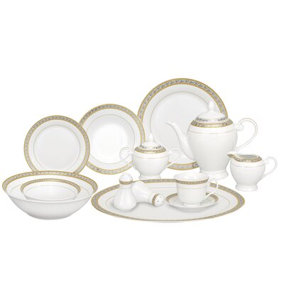 Safora 57 Piece Porcelain Dinnerware Set