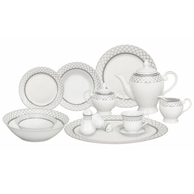 Verona 57 Piece Porcelain Dinnerware Set