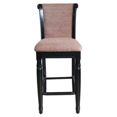 "<strong>Kinfine</strong> Chenille 29"" Bar Stool"