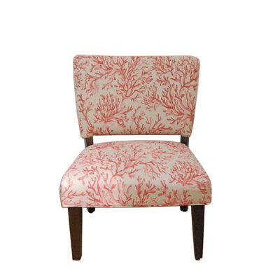Floral Gigi Fabric Slipper Chair