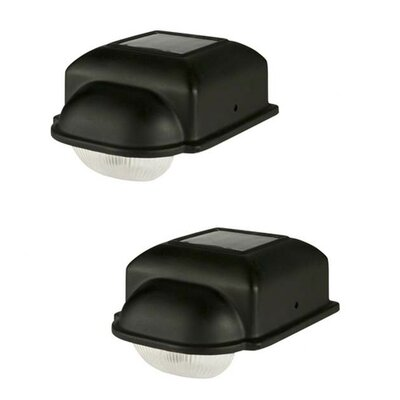 Paradise Garden Lighting 1 Light Solar Deck Light (Set of 2)