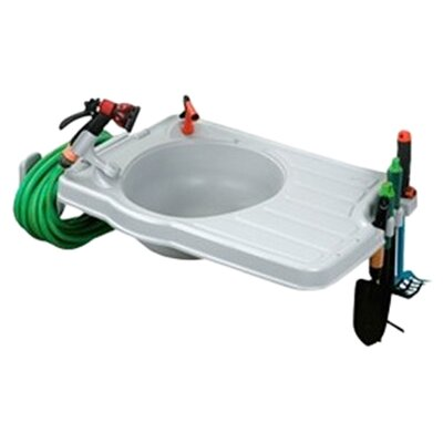 <strong>Riverstone Industries</strong> Outdoor Sink with Large Work Space and Detachable Hose Reel