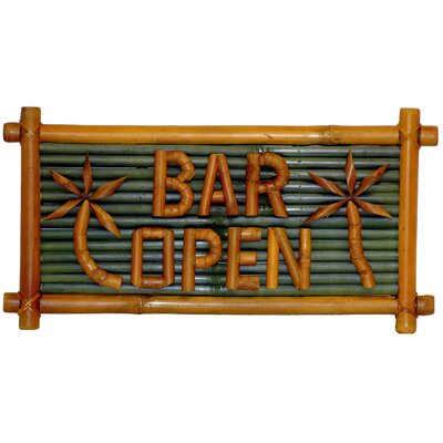 Bamboo54 Bar Open Garden Sign