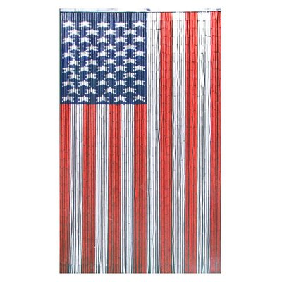 Bamboo54 Natural Bamboo American Flag Curtain Single Panel
