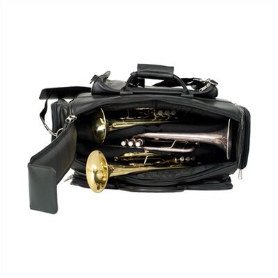 ProTec Leather Triple Trumpet Gig Bag