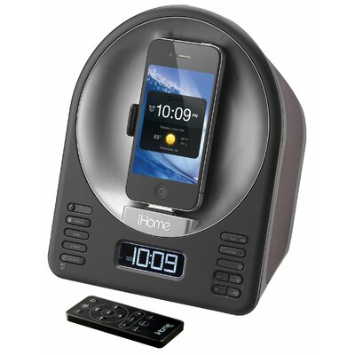 iHome Speaker Dock with Alarm Clock in Black
