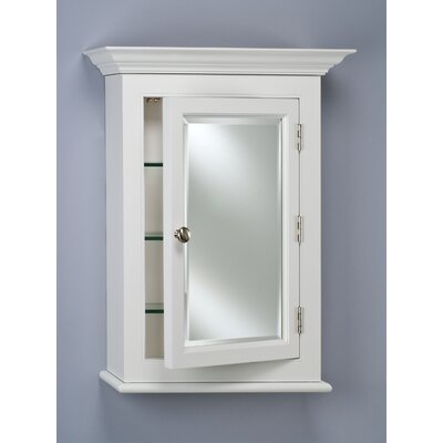 "Wilshire I 22"" x 27"" Surface Mount Beveled Edge Medicine Cabinet | Wayfair"