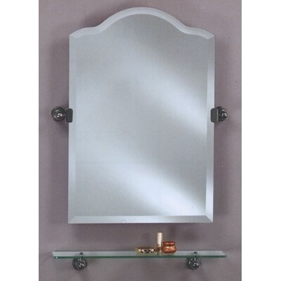 scallop frameless top bathroom mirror wayfair