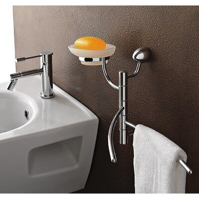 Toscanaluce by Nameeks Swivel Soap Dish with Towel Rail