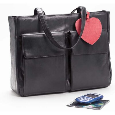 Clava Leather Laptop Tote Bag