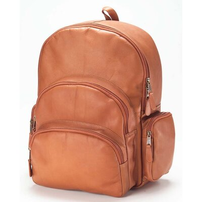 Vachetta Multi-Pocket Backpack in Tan