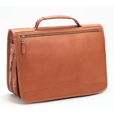 Vachetta Expandable Laptop Briefcase in Tan