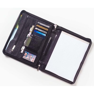 Clava Leather Tuscan Conference Padfolio in Café