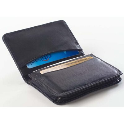 Glazed Leather Business Card Holder Wallet