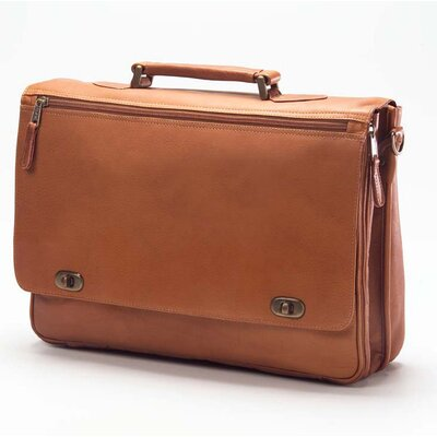 Vachetta Turn Lock Briefcase in Tan