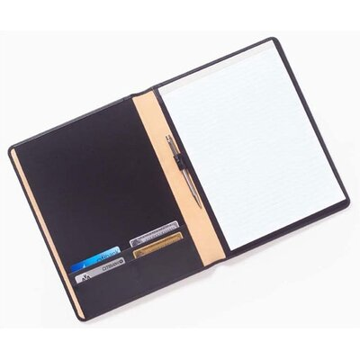 Clava Leather Bridle Slim Business Card Padfolio in Black