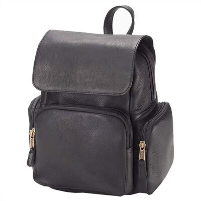 Vachetta Mid Size Multi Pocket Backpack in Black