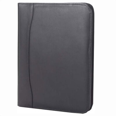 Quinley Zip Padfolio in Black