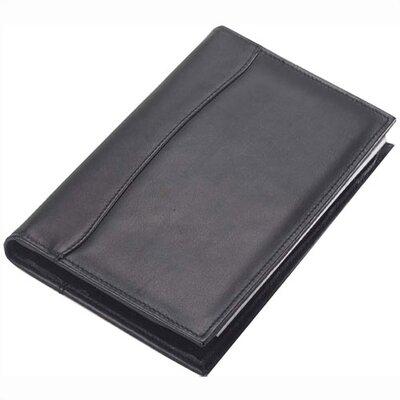 Clava Leather Quinley Junior Padfolio in Black