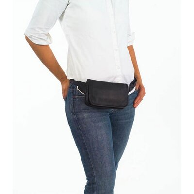 Clava Leather Vachetta Wallet on a Waist in Black