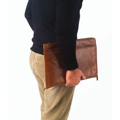 Clava Leather Tuscan Under the Arm Folder Holder in Tan