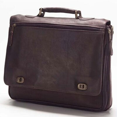 Vachetta Turn Lock Briefcase in Café