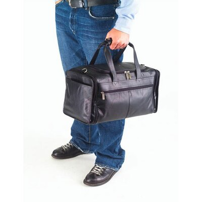 "Clava Leather Quinley Promo 17"" Leather Travel Duffel"