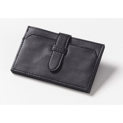 Accordion Business Card Wallet in Black