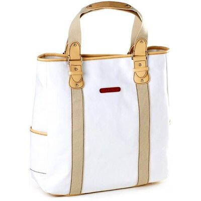 Clava Leather Carina Vertical Tote in White