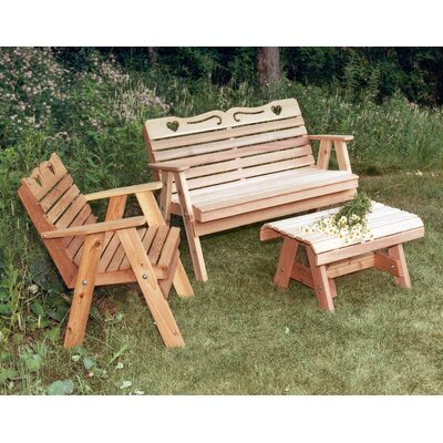 Creekvine Designs Cedar Furniture and Accessories 3 Piece Seating Group