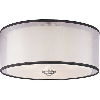 Taniya Nayak Banded 3 Light Flush Mount