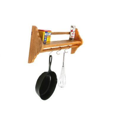 Laurel Highlands Woodshop Wall Mount Pot Rack