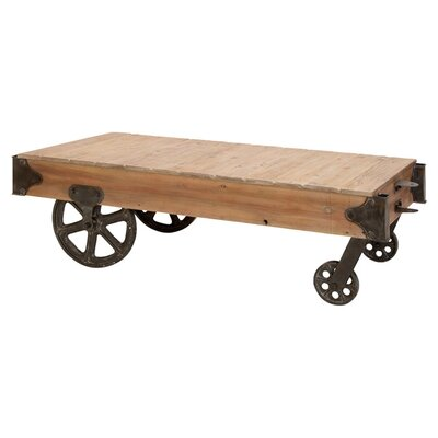 Cole Amp Grey Loft Wood Utility Cart Coffee Table