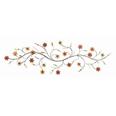 UMA Enterprises Toscana Flower Loaded Twig Metal Wall Décor