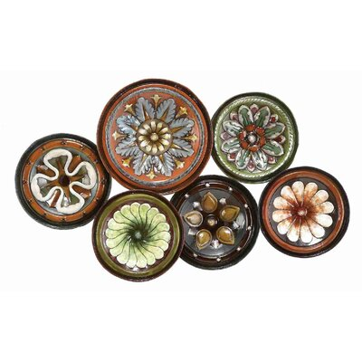UMA Enterprises Toscana Six Assorted Plates / Metal Wall Décor
