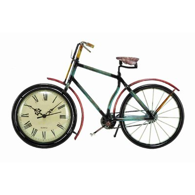 UMA Enterprises Urban Trends Metal Cycle Clock